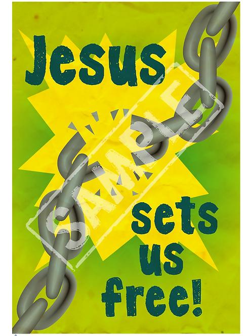Set free printable poster