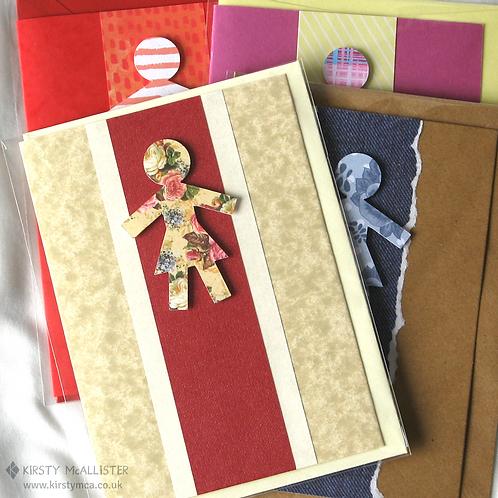 Woman handmade greeting card (assorted)