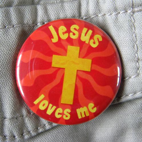 Pin badge - Jesus loves me