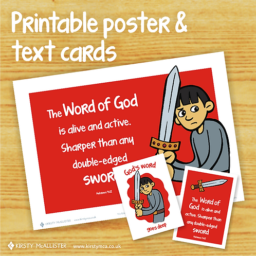 SWORD - God's Word printable poster & text card