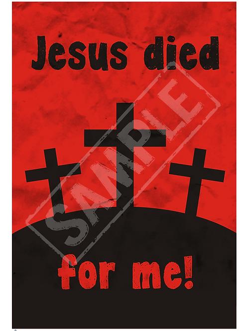 Three crosses printable poster