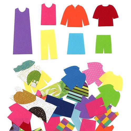 40+ clothes paper shapes