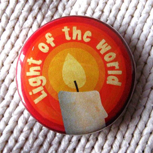 Christmas pin badge - Candle