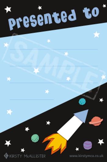 Book presentation label - Rocket