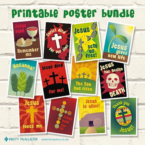 Easter printable poster bundle