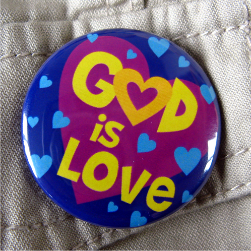 Pin badge - God is Love