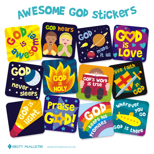 AWesome God Stickers e