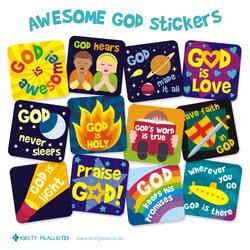 AWesome God Stickers e