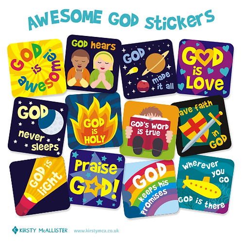 Awesome God stickers