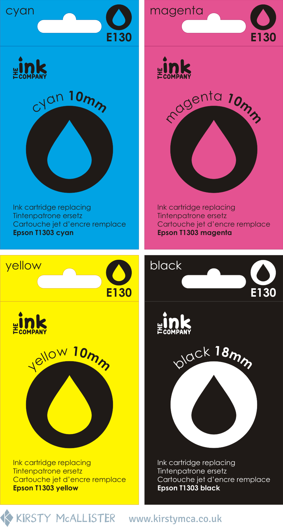 Kirsty McAllister - Ink packaging