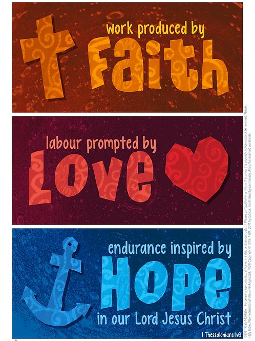 Work, Labour, Endurance printable poster