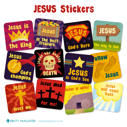 Jesus Stickers e
