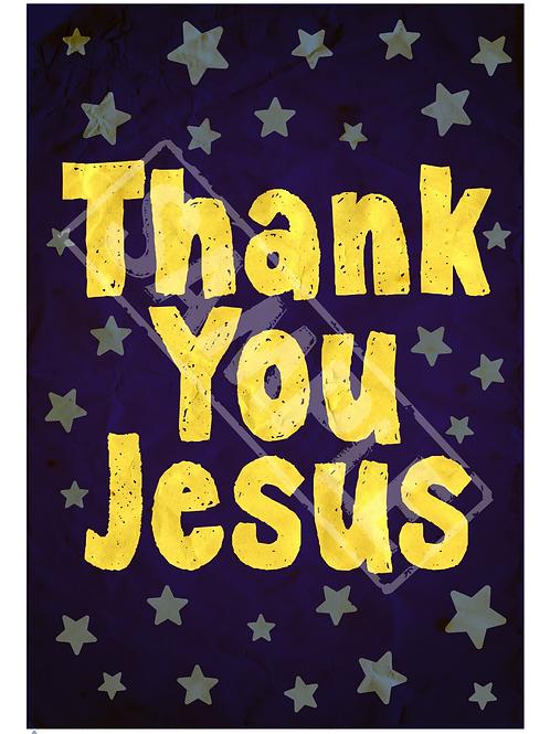 Thank you Jesus printable poster