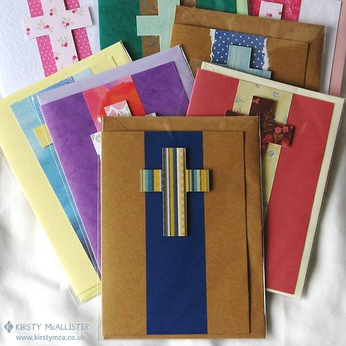 Cross handmade greeting card (assorted)
