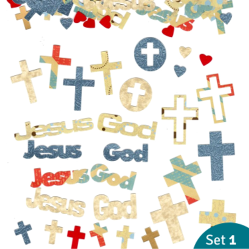 42+ Christian paper cutouts (assorted sets)
