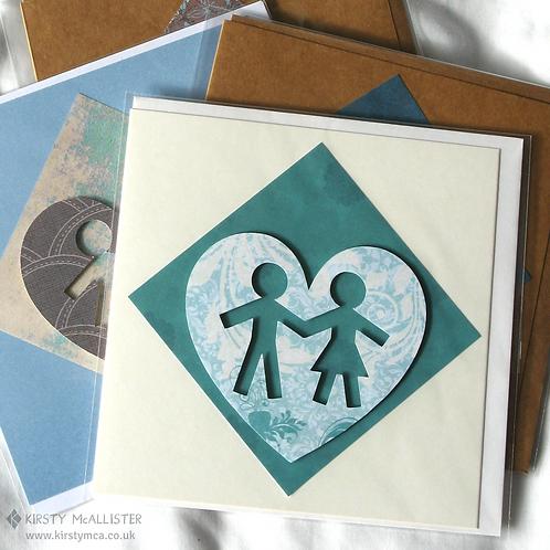 Couple handmade greeting card (assorted)