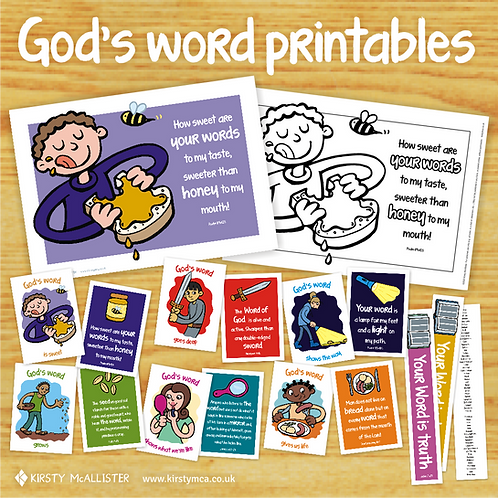 God's word printable posters