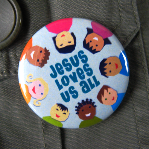 Pin badge - Jesus loves us all