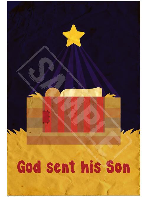 Baby Jesus printable poster