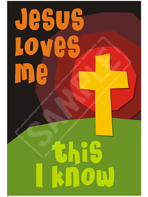 Jesus loves me printable poster