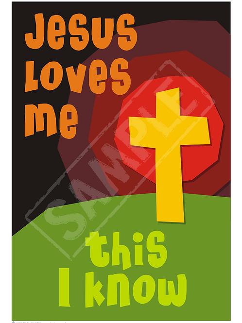 Jesus loves me printable poster
