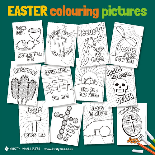 Easter colouring pictures