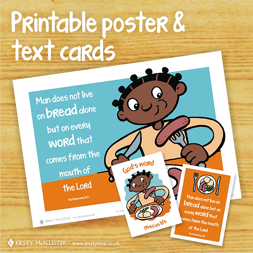 FOOD - God's Word printable poster & text card