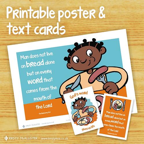 FOOD - God's Word printable poster & text card