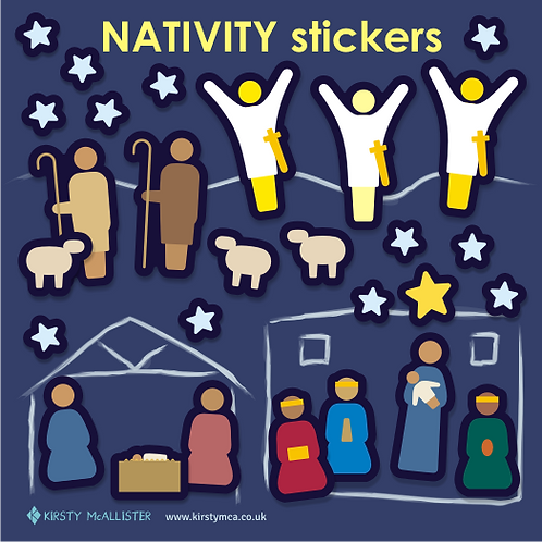 Nativity stickers