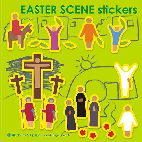 Easter scene stickers