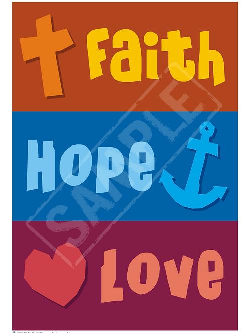Faith, Hope, Love printable poster