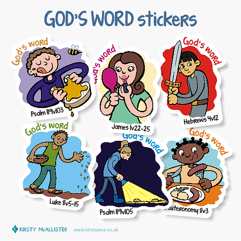 God's Word stickers