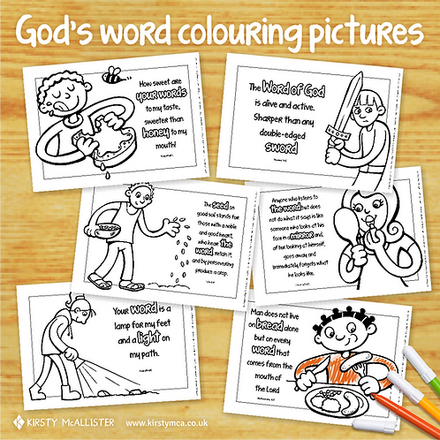 God's Word colouring pictures