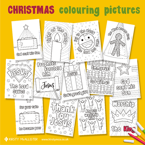 Christmas colouring pictures