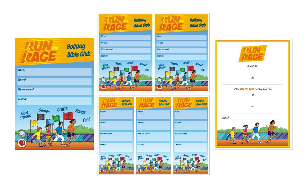 Posters, fliers, certificate