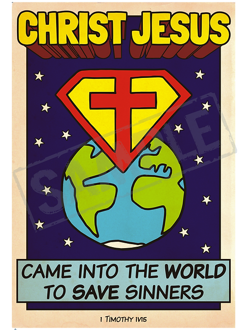 Christ Jesus saviour printable poster