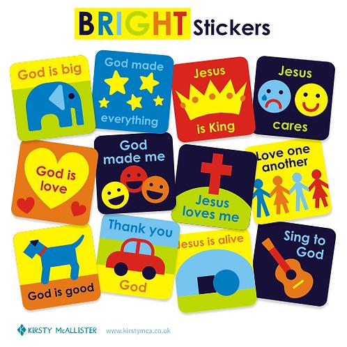 Bright stickers