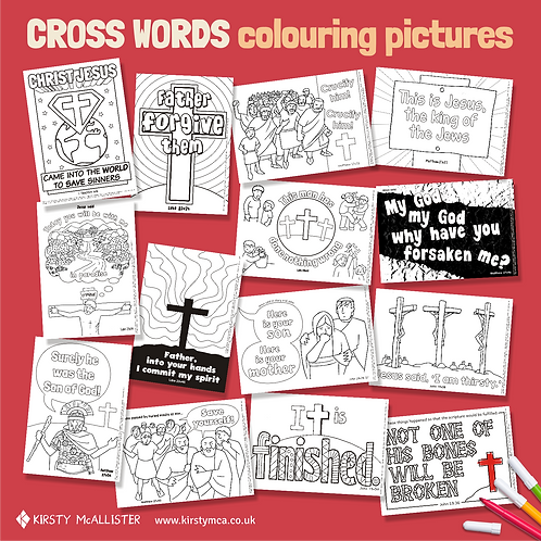 Cross Words colouring pictures
