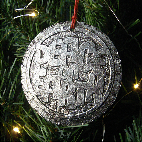 Peace on Earth foil art decoration