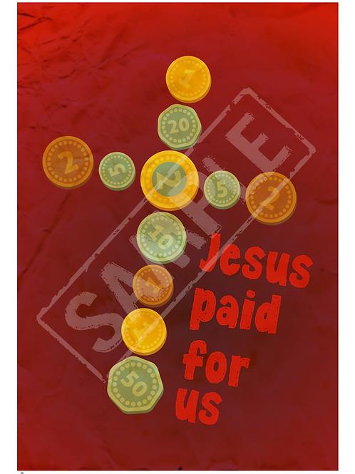 Jesus paid printable poster