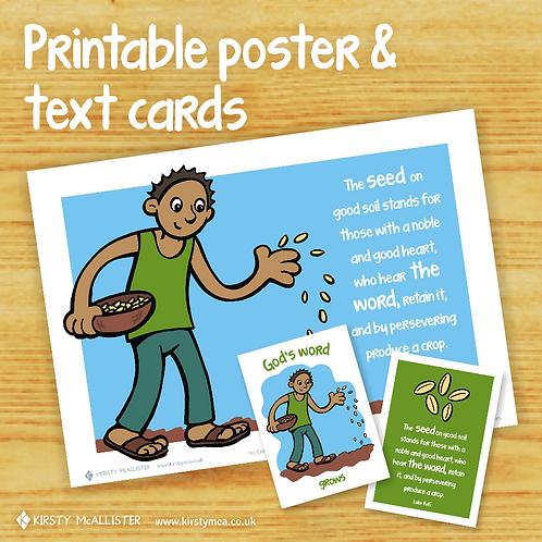 SEED - God's Word printable poster & text card