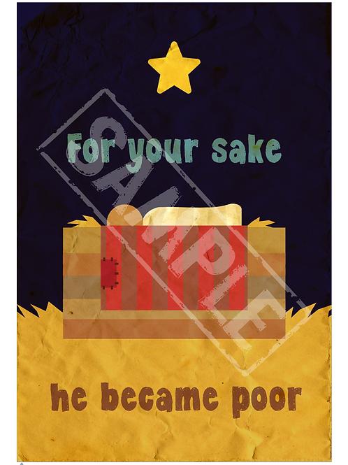 Manger printable poster