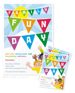 Family Fun Day flier and poster