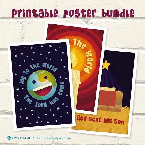 Mini Christmas printable poster bundle