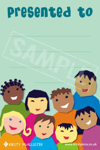 Book presentation label - Children
