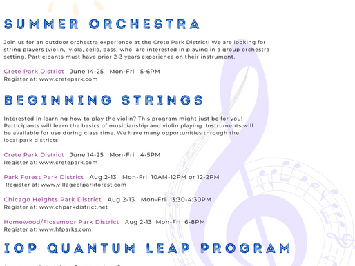 SYSO SUMMER OPPORTUNITIES