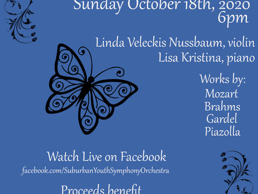 SYSO/IOP Mid-semester update: Benefit Concerts / Rebroadcasts
