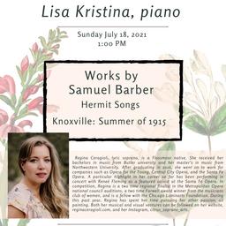 SYSO Summer Concert Series: Regina Ceragioli, soprano