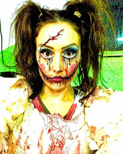 HALLOWEEEEN 🎃#doll #scary #makeup #blood #obsessed #parties #booknow🔜 #bodyart #mama