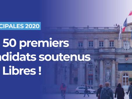Municipales : la liste des 50 premiers candidats soutenus par Libres !